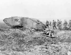 Canadian_tank_and_soldiers_Vimy_1917